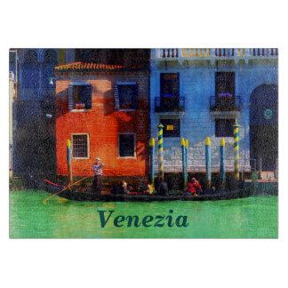 大運河のベニス風のゴンドラ カッティングボード