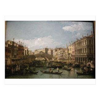 大運河、バーナードBellotto著北からの眺め ポストカード