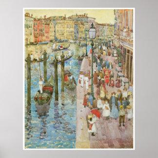 大運河、ベニス1889-99年 ポスター