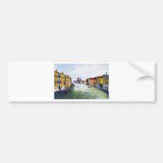 大運河、ベニス、イタリア バンパーステッカー