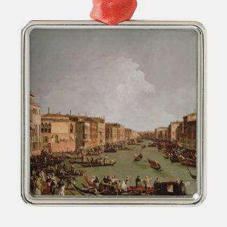 大運河、c.1735のレガッタ メタルオーナメント