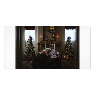 大邸宅のクリスマス夕食 カード