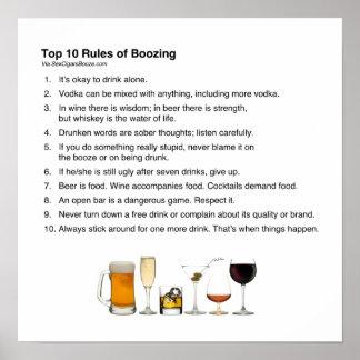 大酒を飲むことの上10の規則 ポスター