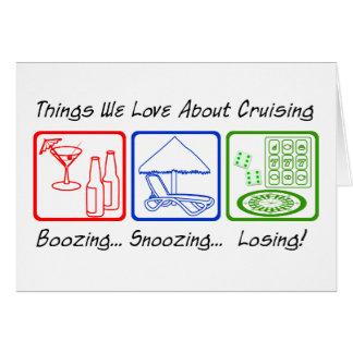 大酒を飲むこと、…居眠りします カード