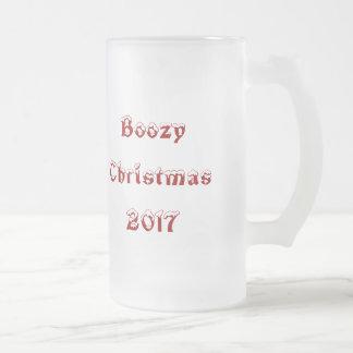 大酒飲みのクリスマスビール2017年 フロストグラスビールジョッキ