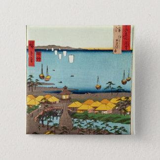 大阪の眺め 5.1CM 正方形バッジ