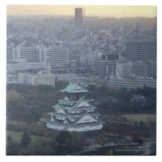大阪城 正方形タイル大