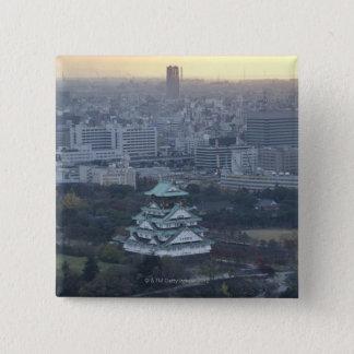 大阪城 5.1CM 正方形バッジ