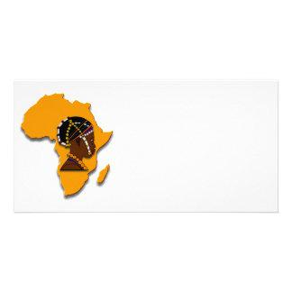 大陸のアフリカの女性 カード