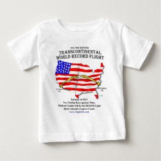 大陸横断飛行Tシャツ ベビーTシャツ