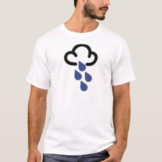 大雨: レトロの天気予報の記号 Tシャツ
