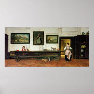 大食堂のインテリア、1866年 ポスター