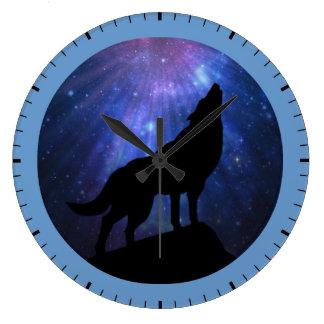 天のオオカミ ラージ壁時計