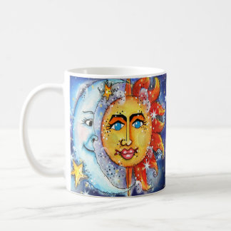 天の日曜日および月のデザイン コーヒーマグカップ