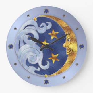 天の月および星 ラージ壁時計