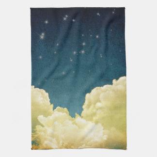 天の眺めの星および雲の台所皿タオル キッチンタオル