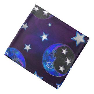 天のMommentsのボヘミアの民芸の紫色 バンダナ