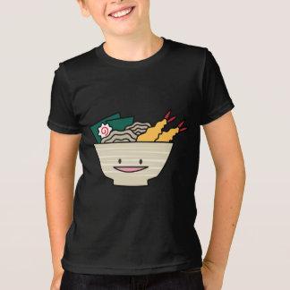 天ぷらのラーメンボールのnoriのエビの日本人のヌードル tシャツ