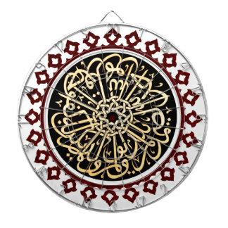 天井で書かれるイスラム教の書道 ダーツボード