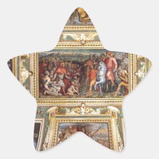 天井の装飾Palazzo VecchioフィレンツェGiorgi 星シール