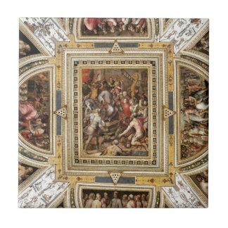 天井の装飾Palazzo Vecchio、ジョルジョ・ヴァザーリ タイル