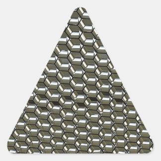 天井板からの抽象芸術 三角形シール