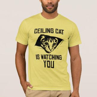 天井猫は見ています! Tシャツ