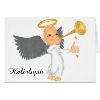 天使およびトランペット カード