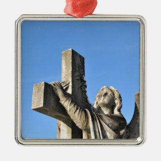 天使および十字 メタルオーナメント