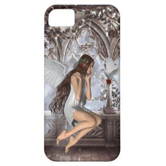 天使と彼女の鳩 iPhone 5 カバー
