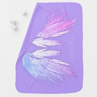 天使によっては妖精の紫色の名前をカスタムするが飛びます ベビー ブランケット