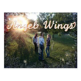 天使によっては昇進の郵便はがきが飛びます ポストカード