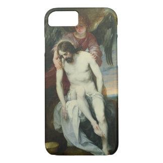 天使によって支えられる死んだキリストc.1646-52 (油 iPhone 8/7ケース