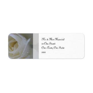 天使のばら色の結婚式 返信用宛名ラベル