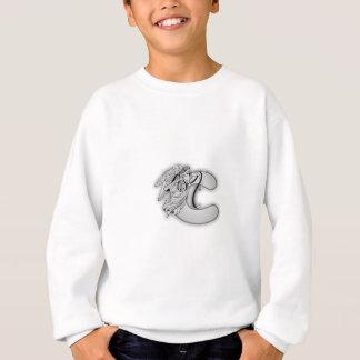 天使のアルファベットCの最初のモノグラム スウェットシャツ