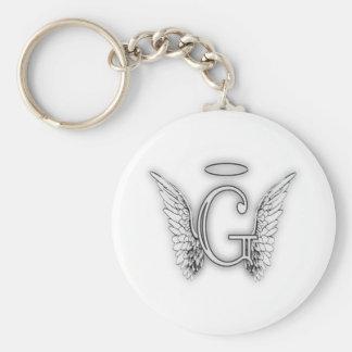 天使のアルファベットGの最初の後者によってはハローが飛びます キーホルダー
