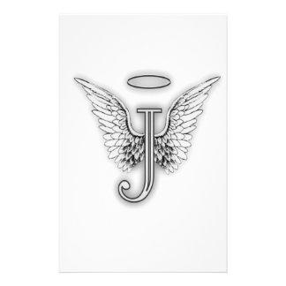 天使のアルファベットJの大文字によってはハローが飛びます 便箋