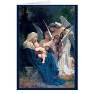 天使のウィリアムBouguereauのファインアートの歌 カード