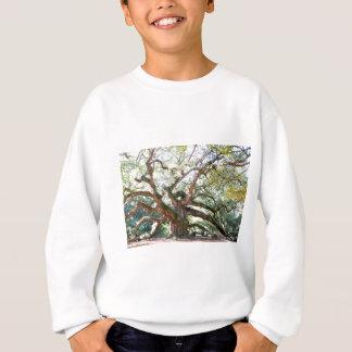天使のオークの木のギフト スウェットシャツ