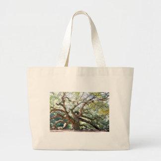 天使のオークの木のギフト ラージトートバッグ