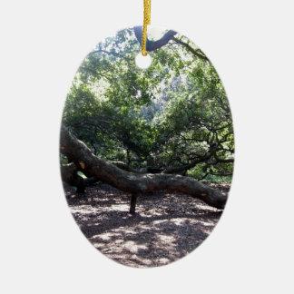 天使のオークの木の肢 セラミックオーナメント