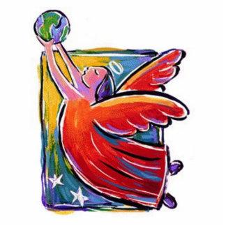 天使のオーナメント 写真彫刻オーナメント