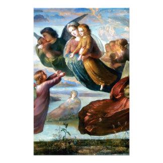 天使のキリスト教の宗教の絵画 便箋