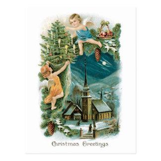 天使のクリスマスの村 はがき