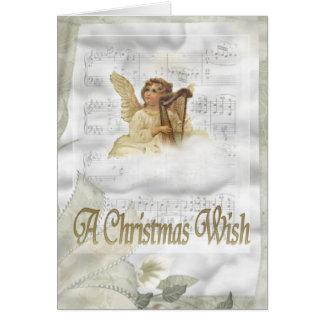 天使のクリスマスカード カード