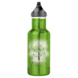 天使のクリスマスツリーのライムグリーンID197 ウォーターボトル