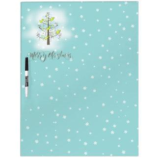 天使のクリスマスツリー青いID197 ホワイトボード