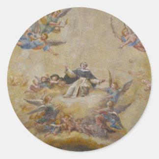 天使のステッカーと設計されている教会天井 ラウンドシール