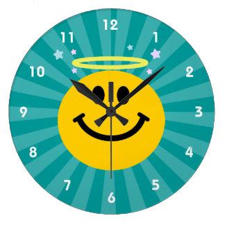 天使のスマイリーフェイス ラージ壁時計