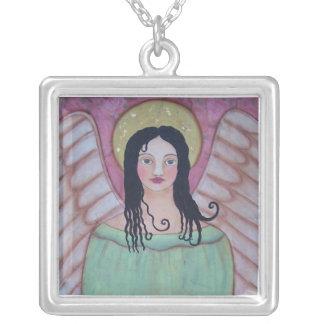 天使のネックレス シルバープレートネックレス